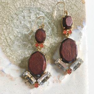 Kate Spade Wood Tile Drop Earrings